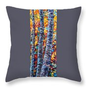 Amber Forest Throw Pillow