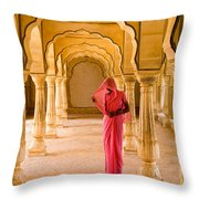 Amber Fort Temple Throw Pillow