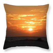 Amber Haze Throw Pillow