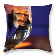Amber Ice Throw Pillow
