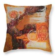 Amber Parade Throw Pillow