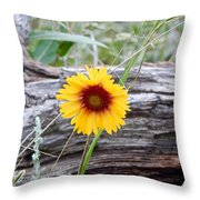 Amber Wheels Blanket Flower Throw Pillow