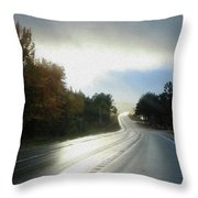 Ambient Autumn Throw Pillow