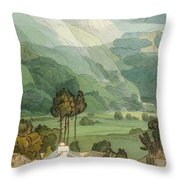 Ambleside Throw Pillow by Francis Towne