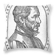 Ambroise Pare, French Surgeon, 1561 Throw Pillow
