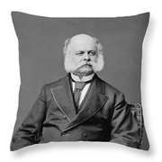 Ambrose Burnside And His Sideburns Throw Pillow
