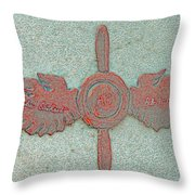 Amelia Earhart Wings Mission Inn Throw Pillow