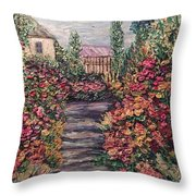Amelia Park Garden Flowers Throw Pillow