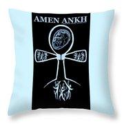 Amen Ankh Indigo Throw Pillow
