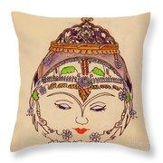 Amerat Goddess Of Flora Throw Pillow