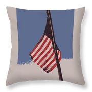 Amercan Flag Throw Pillow