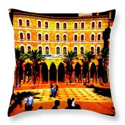 Amercian University Of Beirut  Throw Pillow