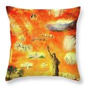 America At Sunset  Throw Pillow