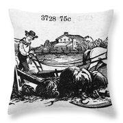 America: Farming, C1870 Throw Pillow