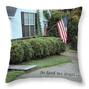 America - In God We Trust Throw Pillow