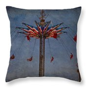 America Swings Throw Pillow
