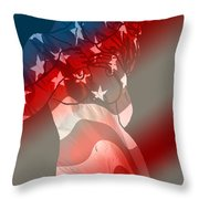 America Throw Pillow by Tbone Oliver