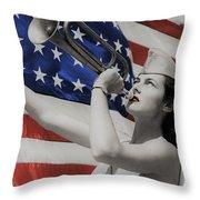 America The Beautiful Throw Pillow
