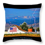 America The Beautiful Poster Throw Pillow