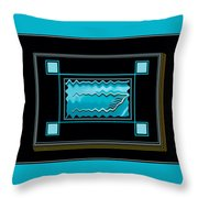 America Wave Throw Pillow