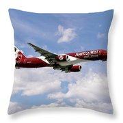America West Boeing 757 Arizona Cardinals Throw Pillow