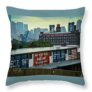 America Will Not Forget Throw Pillow
