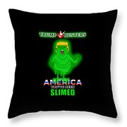 America, You've Been Slimed Throw Pillow