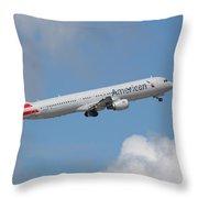 American Air Throw Pillow
