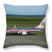 American Airlines 737-800 Throw Pillow