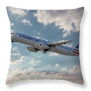American Airlines A321-231 N917uy Throw Pillow