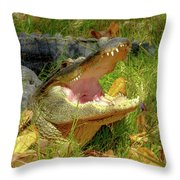 American Alligator Arizona Chapter Throw Pillow