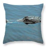 American Alligator Profile Throw Pillow