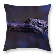 American Alligator Sleeping Throw Pillow