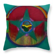 American Army Landscape Throw Pillow