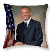 American Astonaut John Glenn Throw Pillow