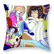 Jelly Roll Bob - Portraits Of Dylan Throw Pillow