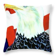 American Bald Eagle Painting #256 Throw Pillow