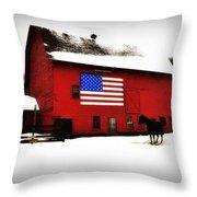 American Barn Throw Pillow