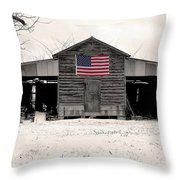 American Barn Throw Pillow