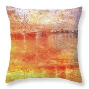 American Beach Cottage Art And Feelings-5 Throw Pillow