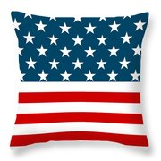 American Beach Towel Throw Pillow
