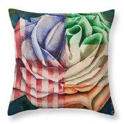 American Beauty Irish Rose Throw Pillow