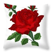 American Beauty Rose Throw Pillow