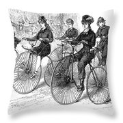 American Bicyclists, 1879 Throw Pillow