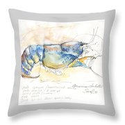 American Blue Lobster Throw Pillow