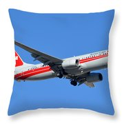 American Boeing 737-823 N915nn Phoenix Sky Harbor January 11 2015 Throw Pillow