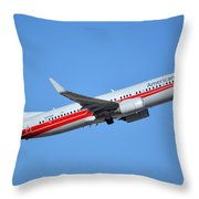 American Boeing 737-823 N915nn Retro Twa Phoenix Sky Harbor January 12 2015 Throw Pillow