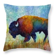 American Buffalo 5 Throw Pillow