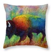 American Buffalo 6 Throw Pillow by Hailey E Herrera