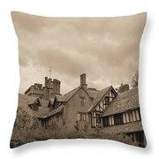 American Castle Throw Pillow